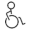 Symbol representing a person with reduced mobility